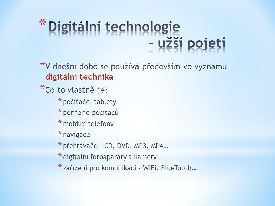 * V dnešní době se používá především ve významu digitální technika * Co to vlastně je.