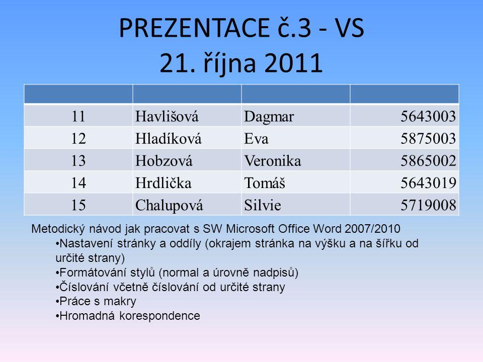 PREZENTACE č.3 - VS 21.