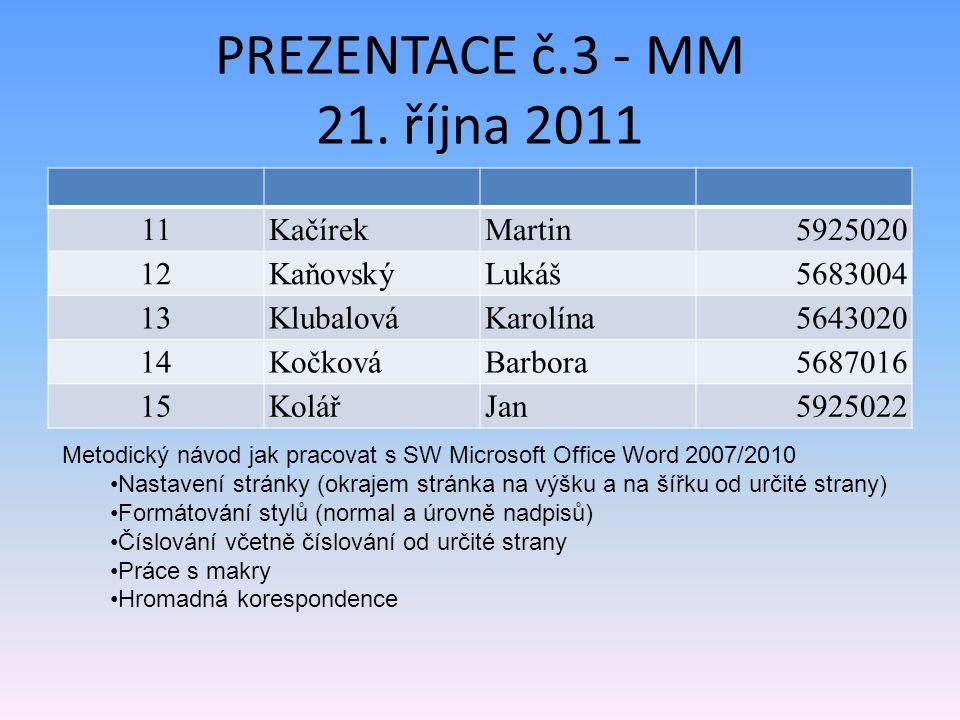 PREZENTACE č.3 - MM 21.