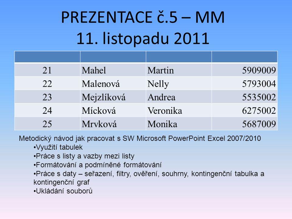 PREZENTACE č.5 – MM 11.