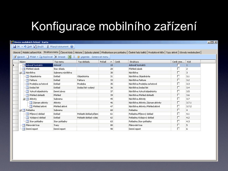 Konfigurace mobilního zařízení