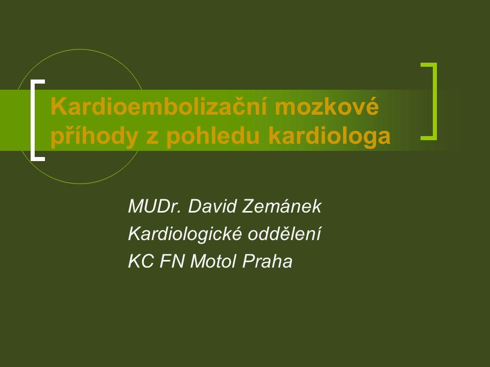 Embolizační příhody a kardioverze Gallagher, J Am Coll Cardiol, 2002Berger, Am J Cardiol, 1998