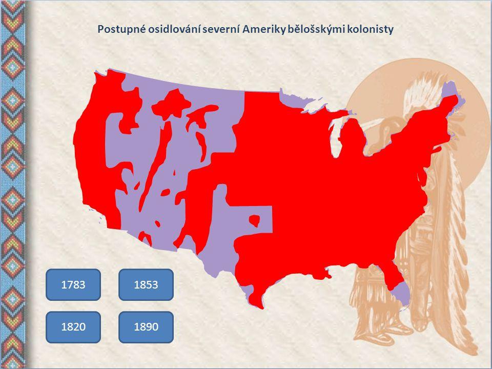 Kolonizace území USA Hranice bělošského osídlení se každým rokem posunovala zhruba o 25 km směrem na západ. Toto území postupně zalidňovali tzv. hrani