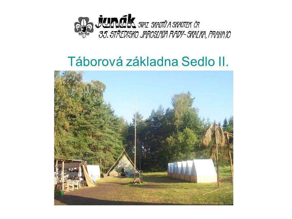 Nabízíme možnost využití naší táborové základny (TZ) v katastru obce Sedlo u Jindřichova Hradce.