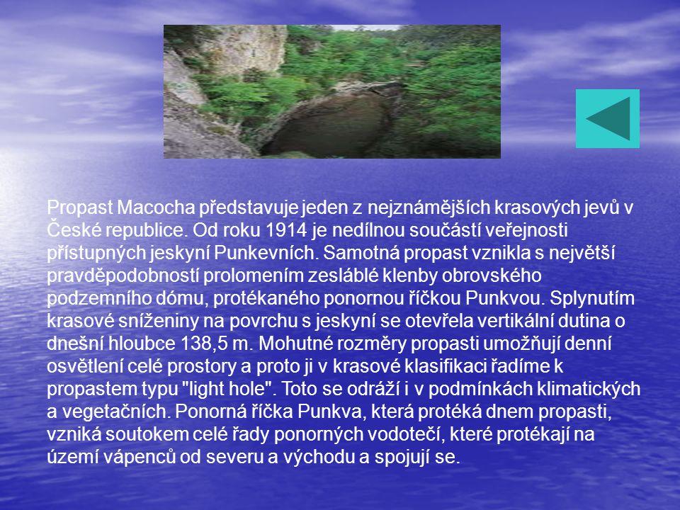 Jeskyně Balcarka Kateřinská jeskyně Punkevní jeskyně Jeskyně Sloupsko-šošůvské Macocha Doprava Informace pro vozíčkáře Ostatní jeskyně v ČR Provozní d