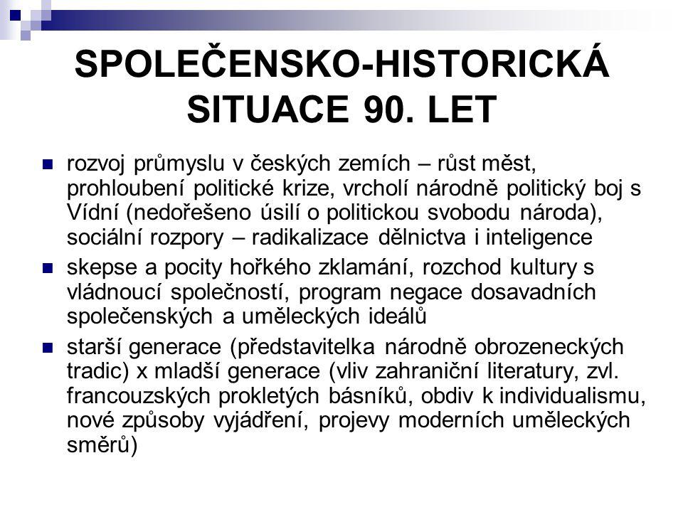 ČESKÁ MODERNA 1895 – vyšel Manifest České moderny v časopise Rozhledy autoři – J.