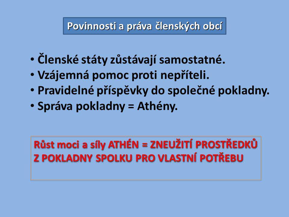 Zlaté období Athén PERIKLÉS 443 - 429 př.n. l.