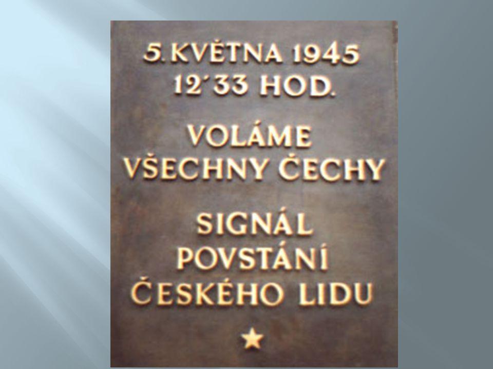  Od začátku roku 1944 se představitelé českého odboje připravovali na ozbrojené povstání proti okupantům  Rada tří, IV.