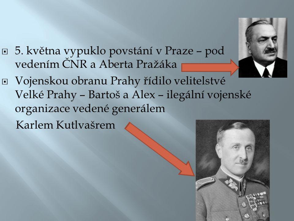  Navazovali spojení s vládním vojskem, českým četnictvem, policií, finanční stráží  sovětskou i americkou armádou, s českými i sovětskými partyzány.
