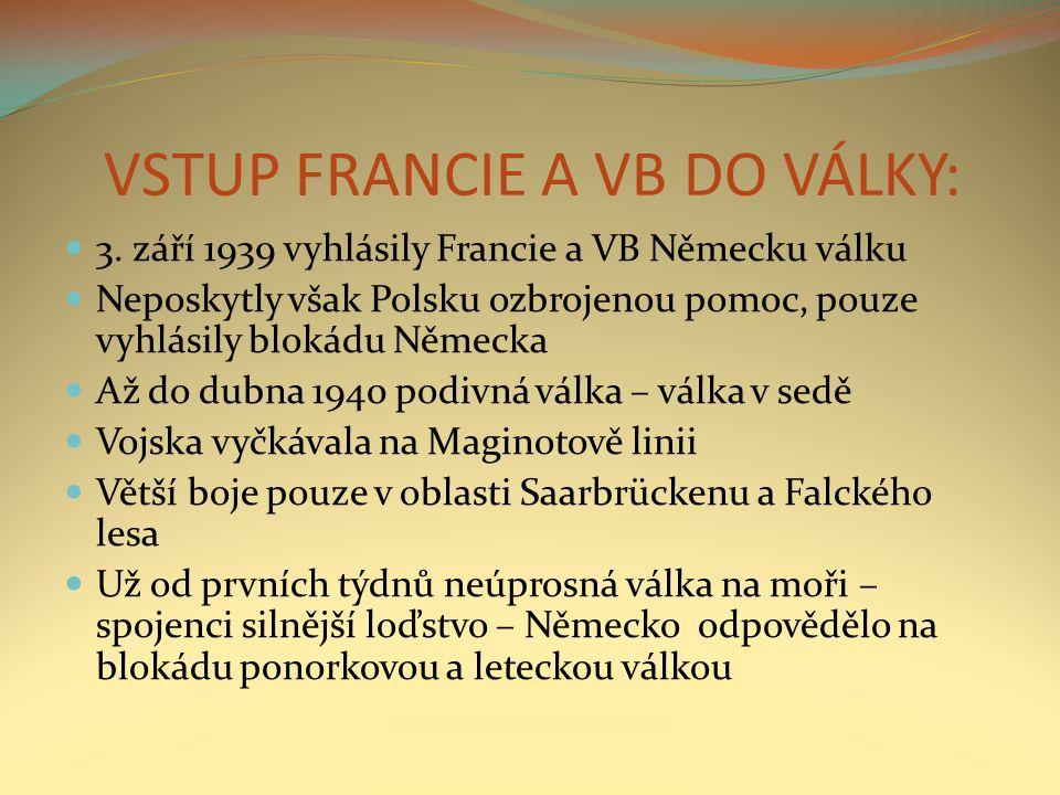 VSTUP FRANCIE A VB DO VÁLKY: 3.