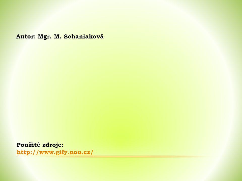 Použité zdroje: http://www.gify.nou.cz/ Autor: Mgr. M. Schaniaková