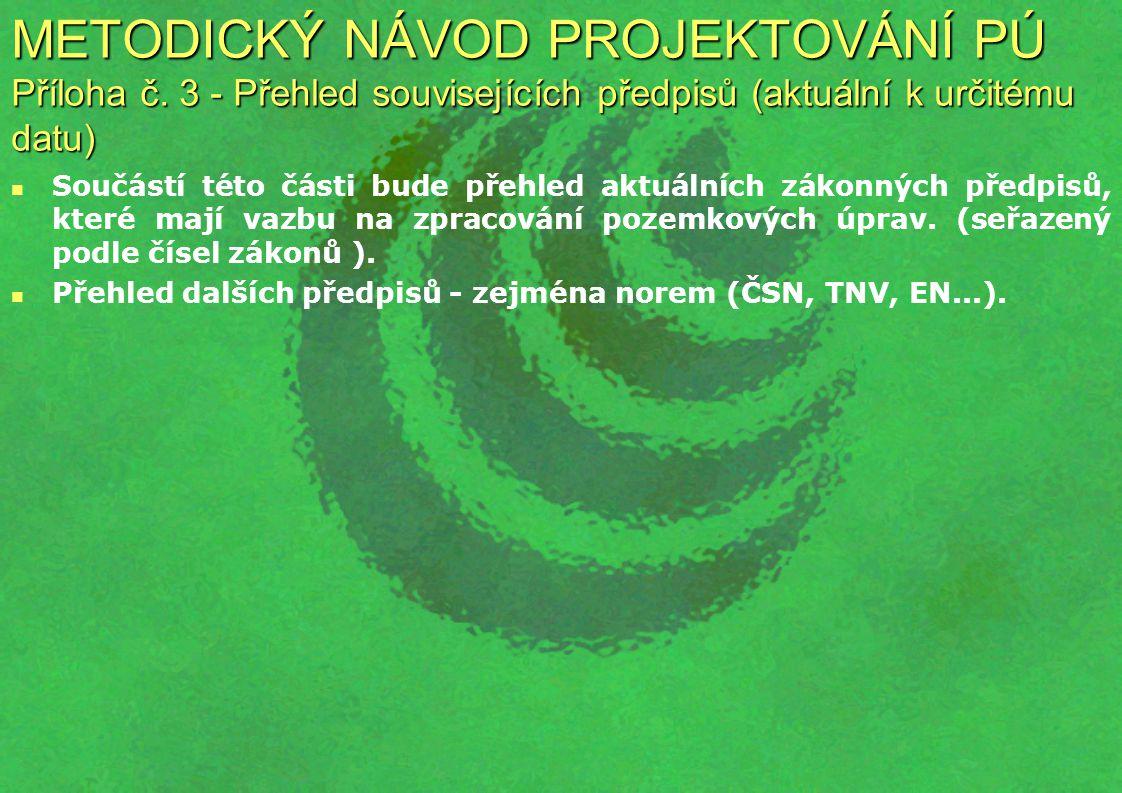 METODICKÝ NÁVOD PROJEKTOVÁNÍ PÚ Příloha č.