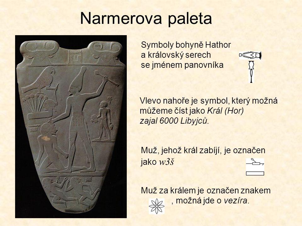 Vývoj písma v Egyptě Slonovinové destičky