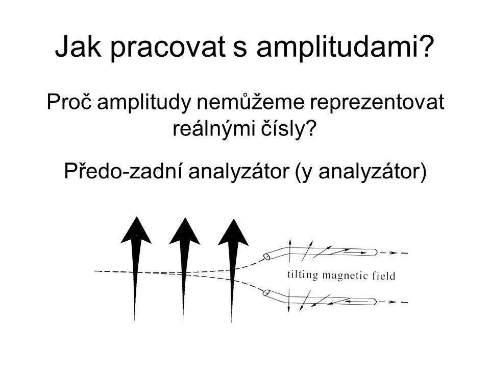 Jak pracovat s amplitudami.Proč amplitudy nemůžeme reprezentovat reálnými čísly.