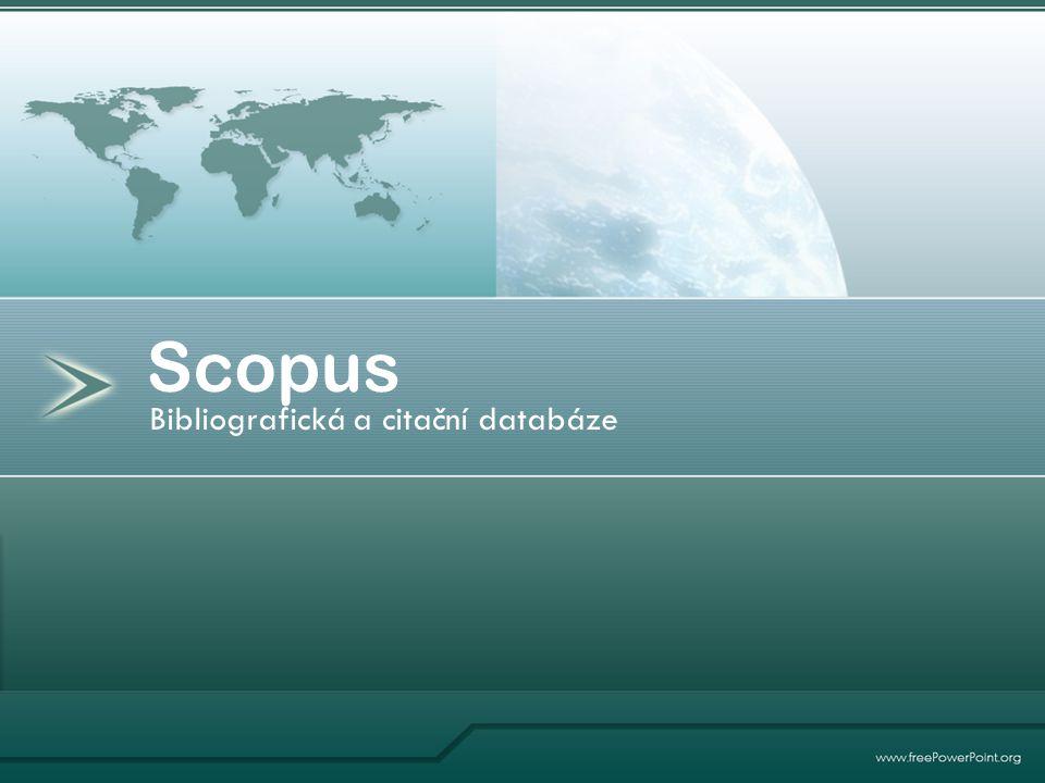 Bibliografická a citační databáze Scopus