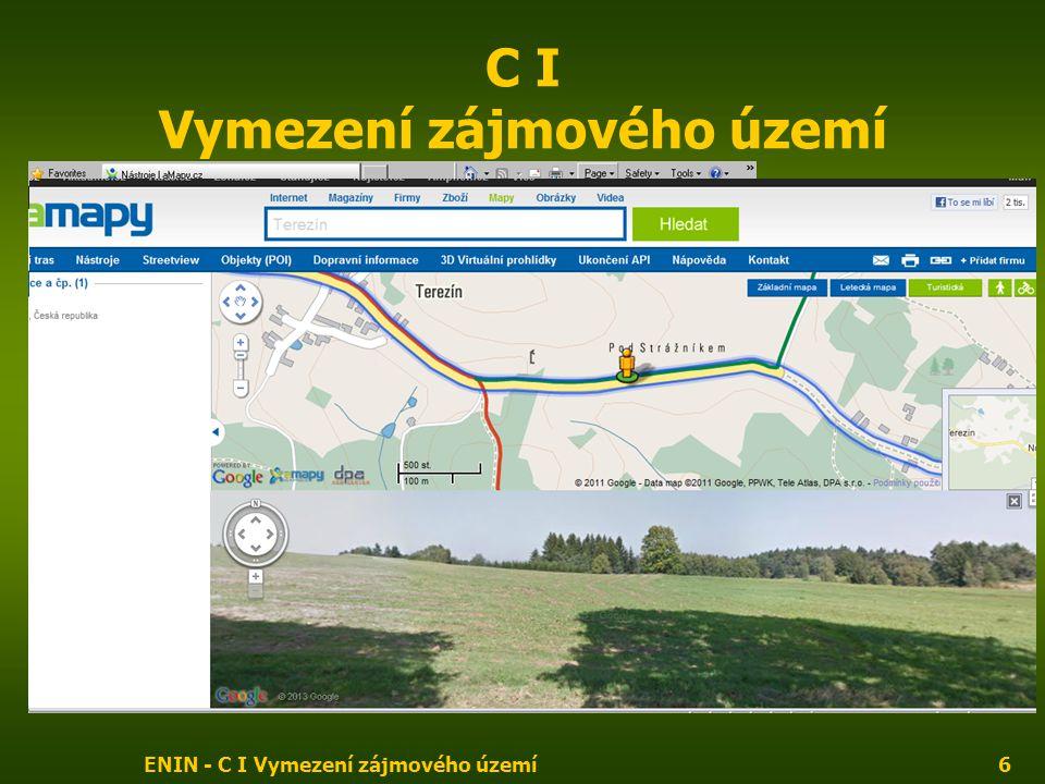 ENIN - C I Vymezení zájmového území7 C I Vymezení zájmového území Seznam