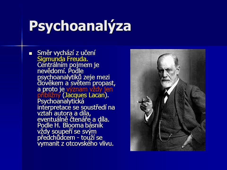 Psychoanalýza Směr vychází z učení Sigmunda Freuda.