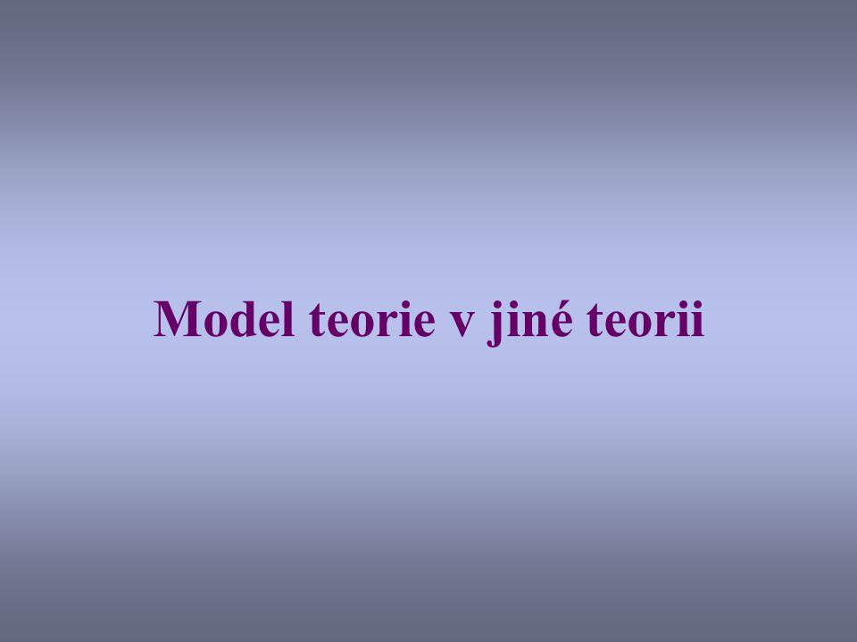 Model teorie v jiné teorii