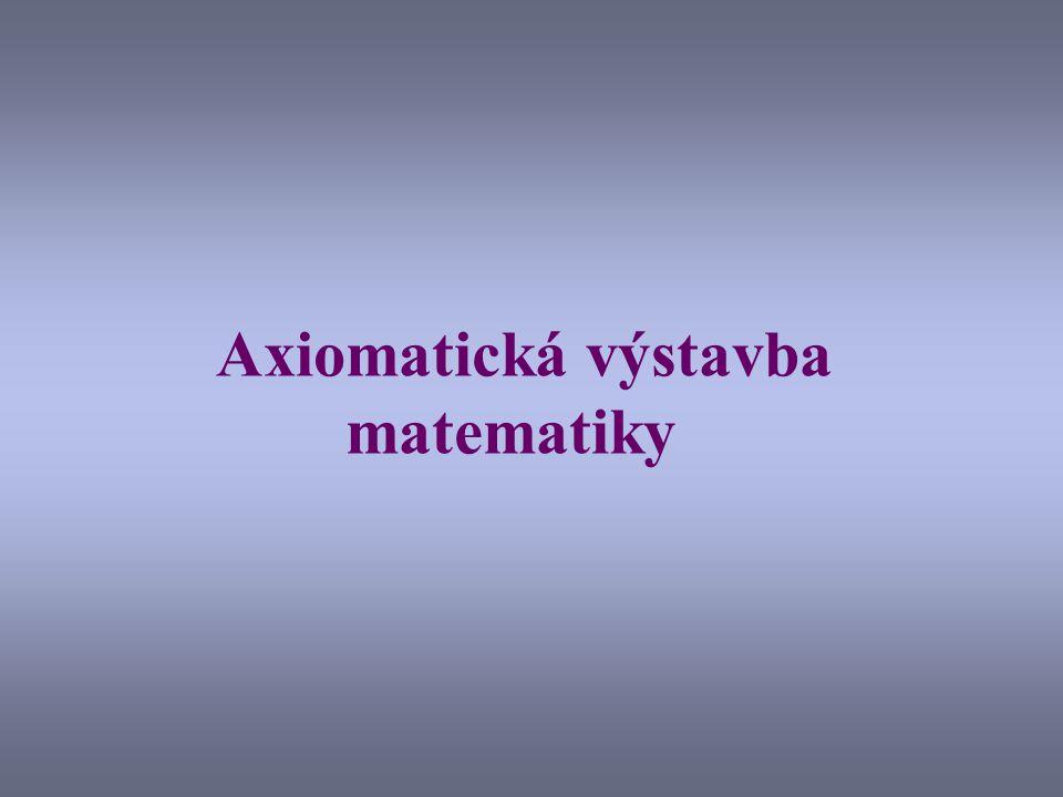 Axiomatická výstavba matematiky