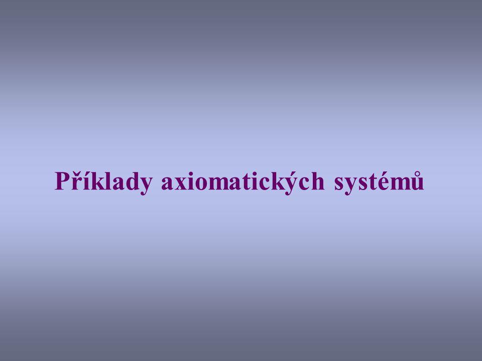 Příklady axiomatických systémů