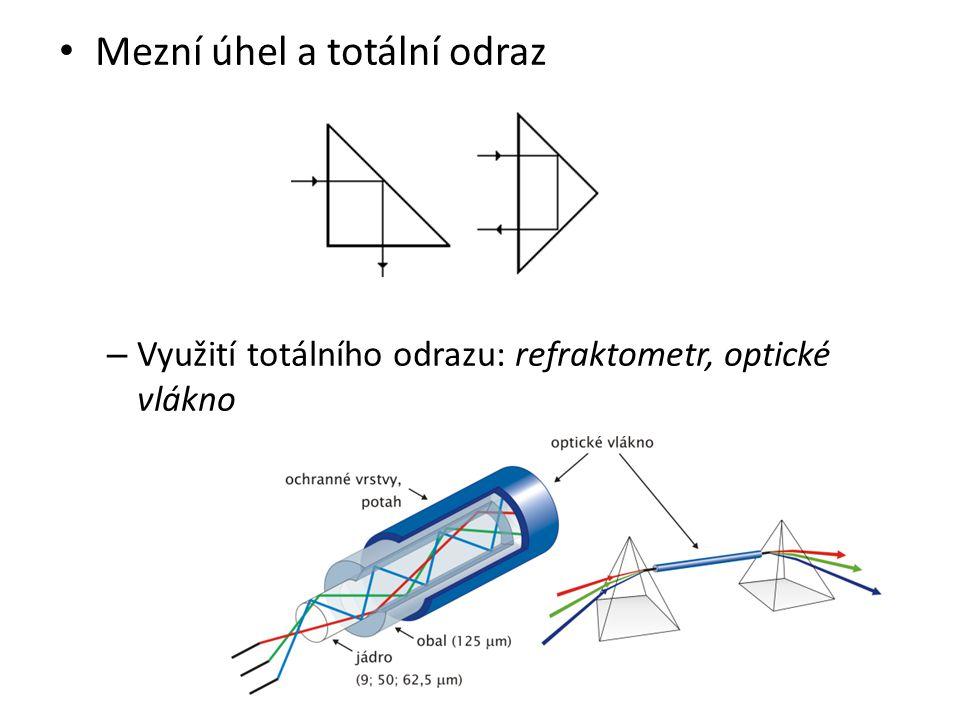 Mezní úhel a totální odraz – Využití totálního odrazu: refraktometr, optické vlákno
