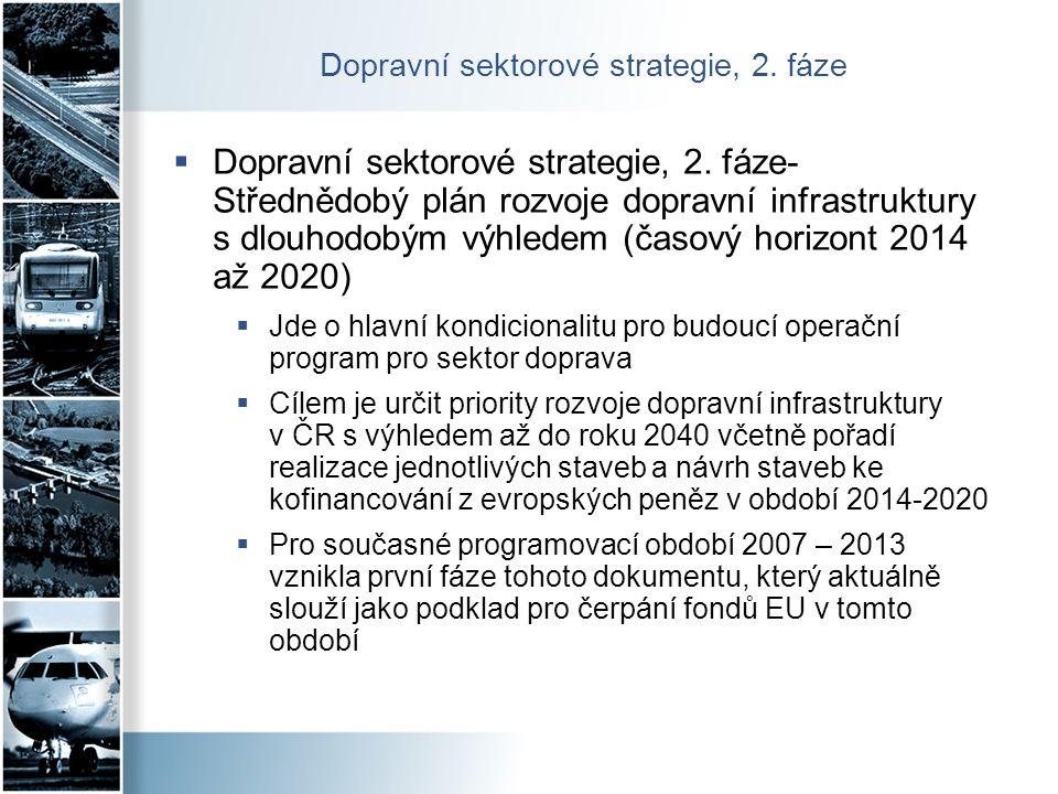 Dopravní sektorové strategie, 2. fáze  Dopravní sektorové strategie, 2. fáze- Střednědobý plán rozvoje dopravní infrastruktury s dlouhodobým výhledem