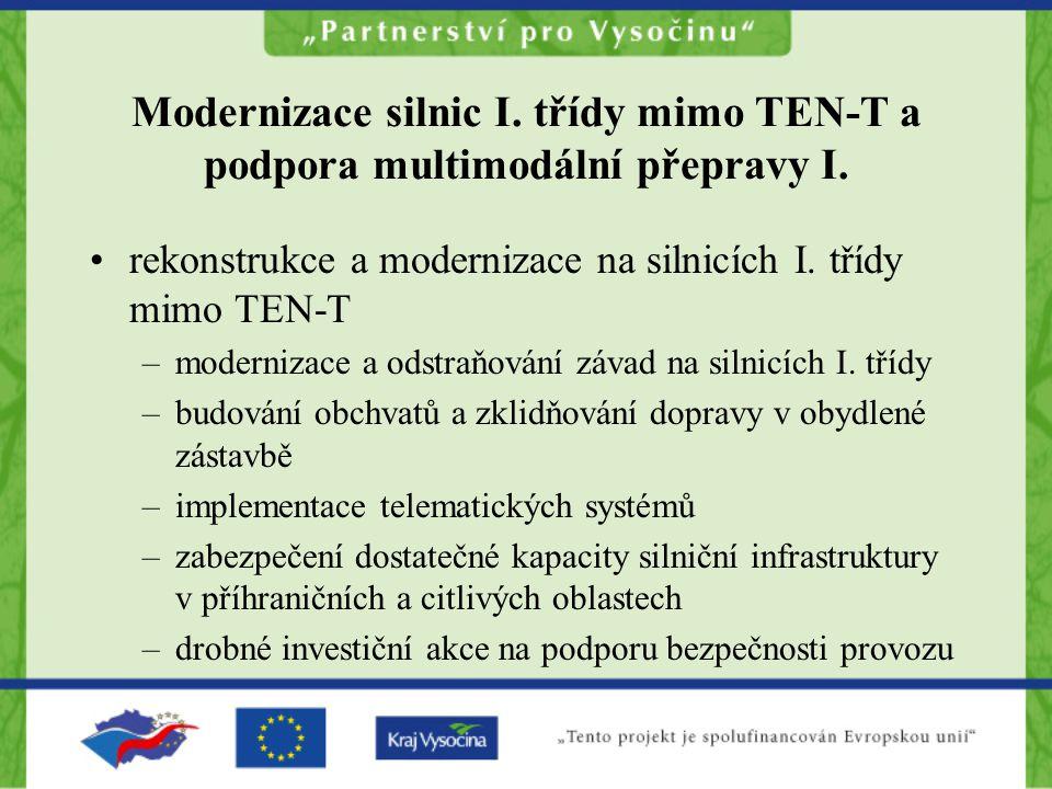 Modernizace silnic I.třídy mimo TEN-T a podpora multimodální přepravy I.