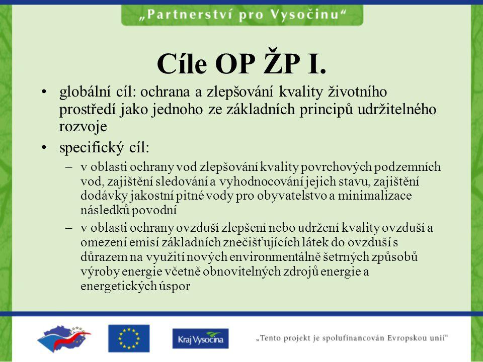 Cíle OP ŽP I.