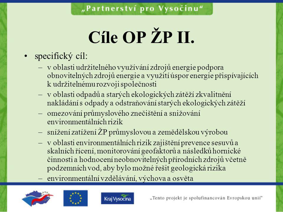 Cíle OP ŽP II.