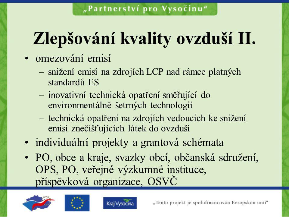 Zlepšování kvality ovzduší II.