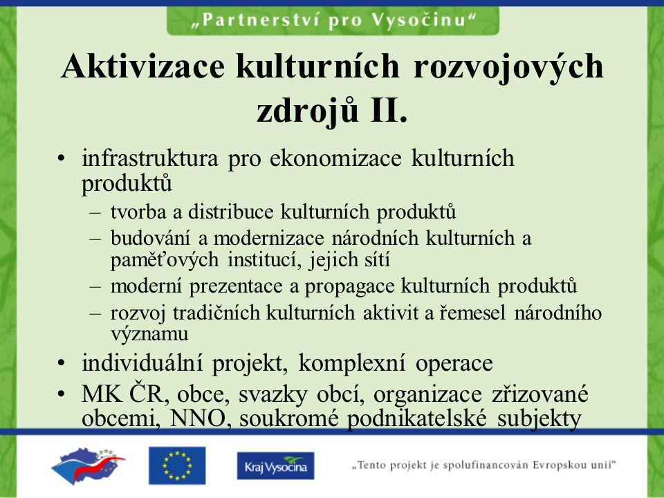 Aktivizace kulturních rozvojových zdrojů II.