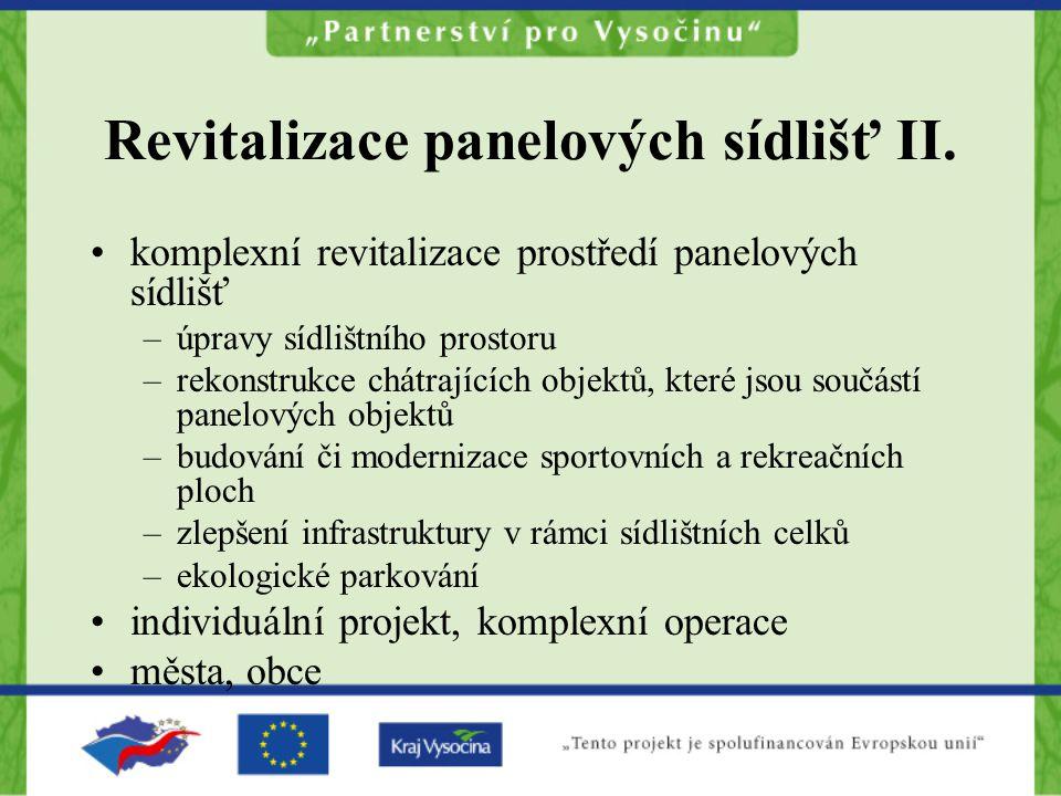 Revitalizace panelových sídlišť II.