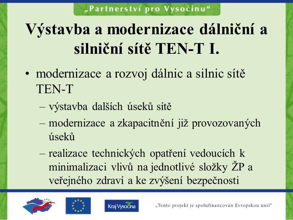 Výstavba a modernizace dálniční a silniční sítě TEN-T I.