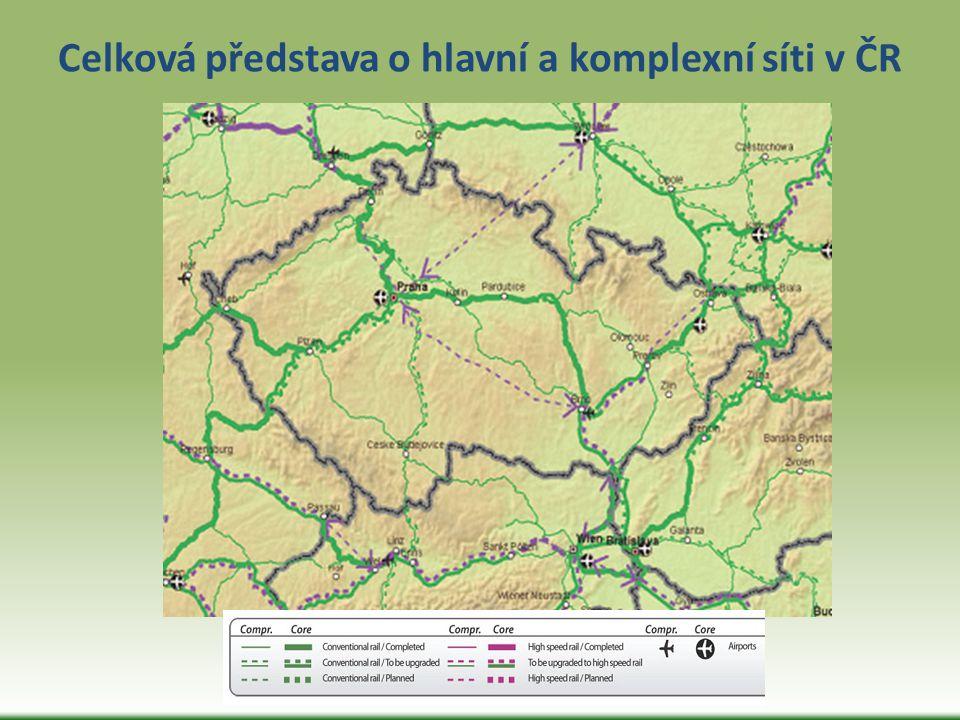 Celková představa o hlavní a komplexní síti v ČR