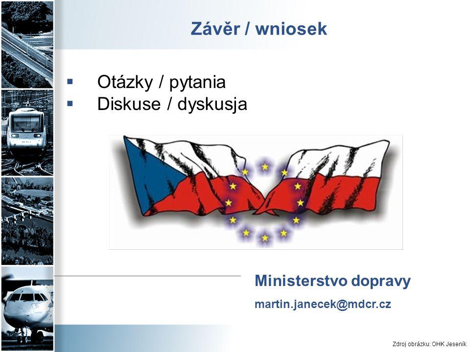 Závěr / wniosek  Otázky / pytania  Diskuse / dyskusja Zdroj obrázku: OHK Jeseník Ministerstvo dopravy martin.janecek@mdcr.cz