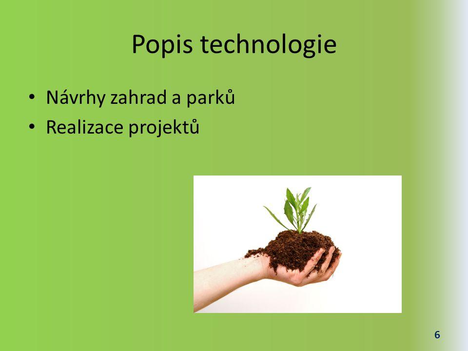 Návrhy zahrad a parků Počítač Software pro návrhy Kvalifikovaná osoba 7