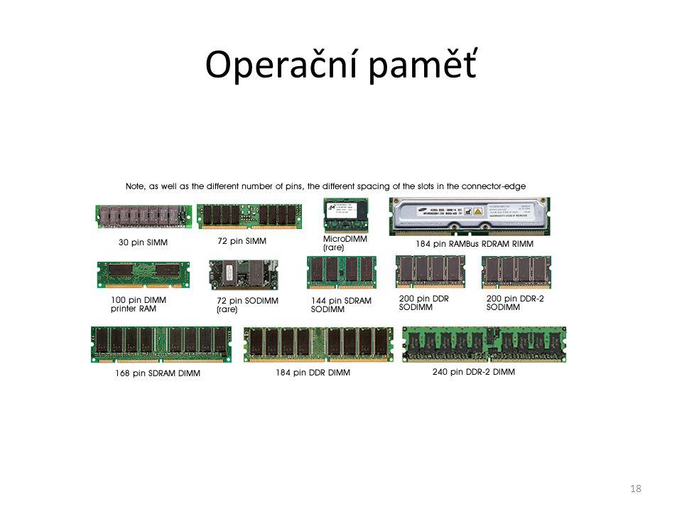 18 Operační paměť