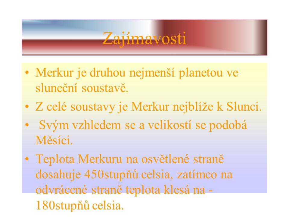 Informace o Merkuru