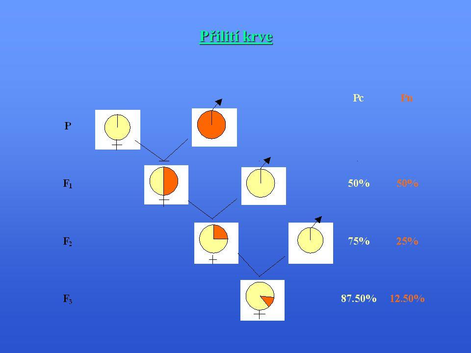 Rotační křížení Rotační křížení - využívá se tří a více plemen - kříženky F 1 a dalších generací se využívají k chovu, připařují se čistokrevnými plemeníky výchozích plemen - v přesném sledu se střídají.