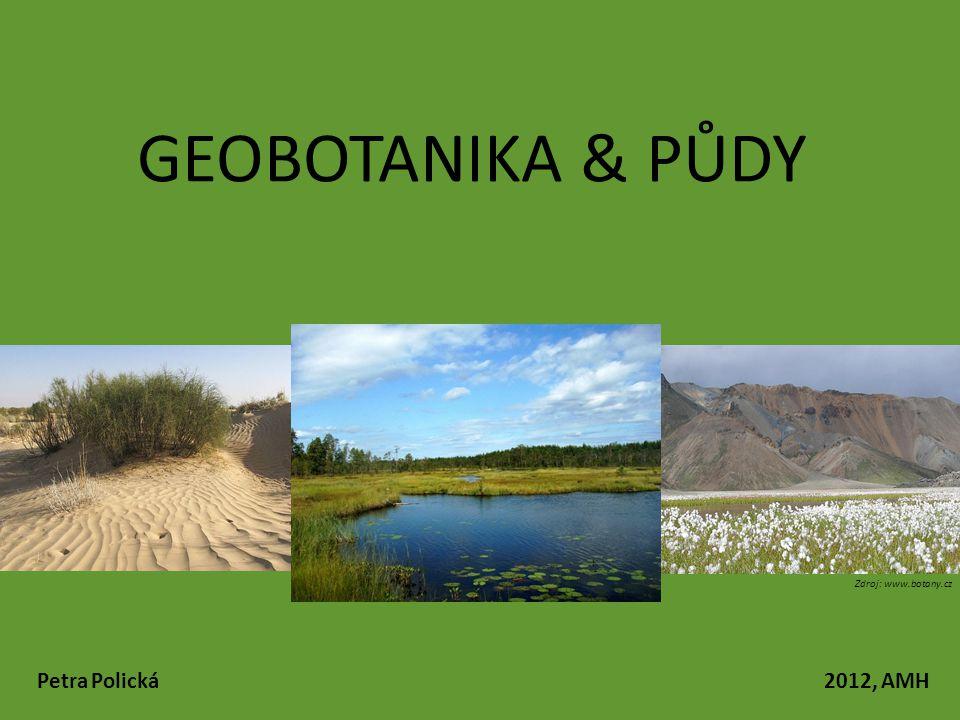 GEOBOTANIKA & PŮDY Petra Polická 2012, AMH Zdroj: www.botany.cz