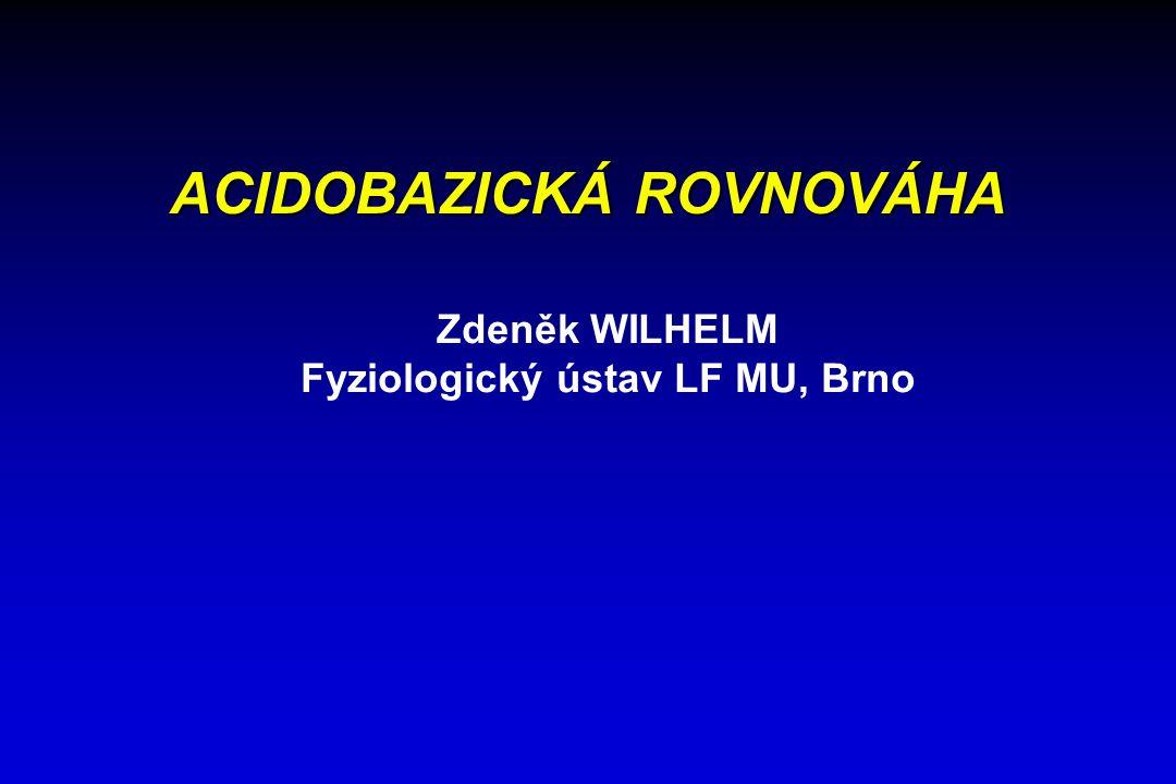 ACIDOBAZICKÁ ROVNOVÁHA Zdeněk WILHELM Fyziologický ústav LF MU, Brno