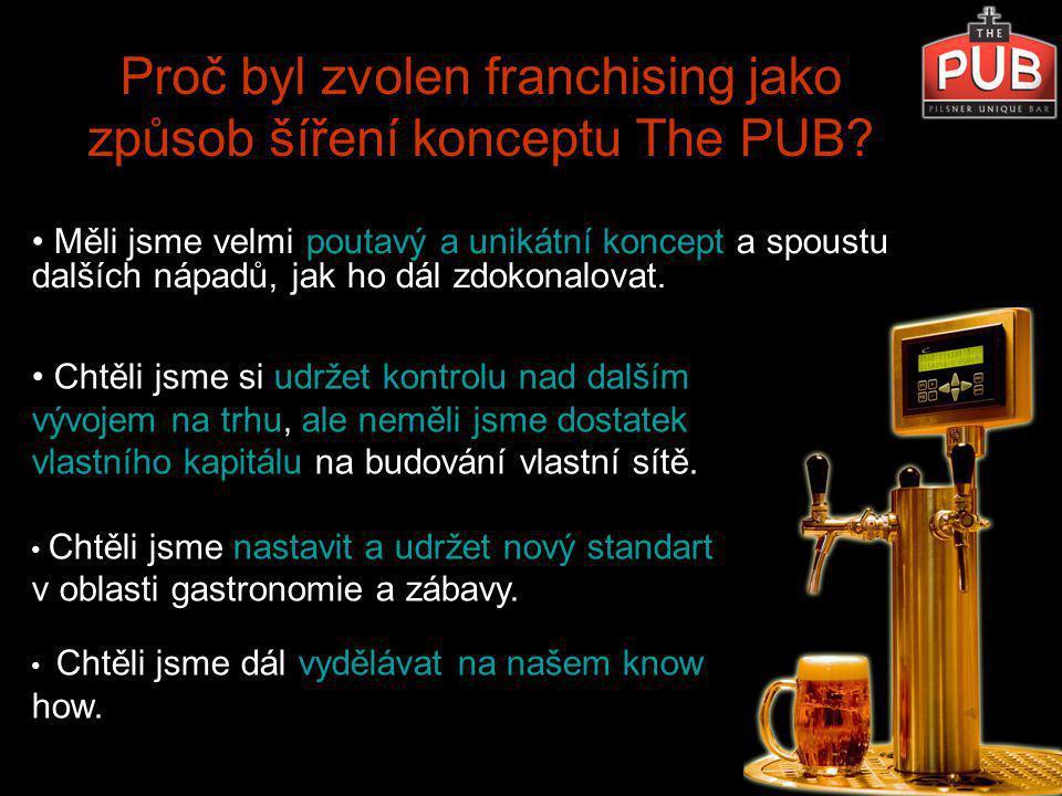 1.Nabídnout Proč byl zvolen franchising jako způsob šíření konceptu The PUB.