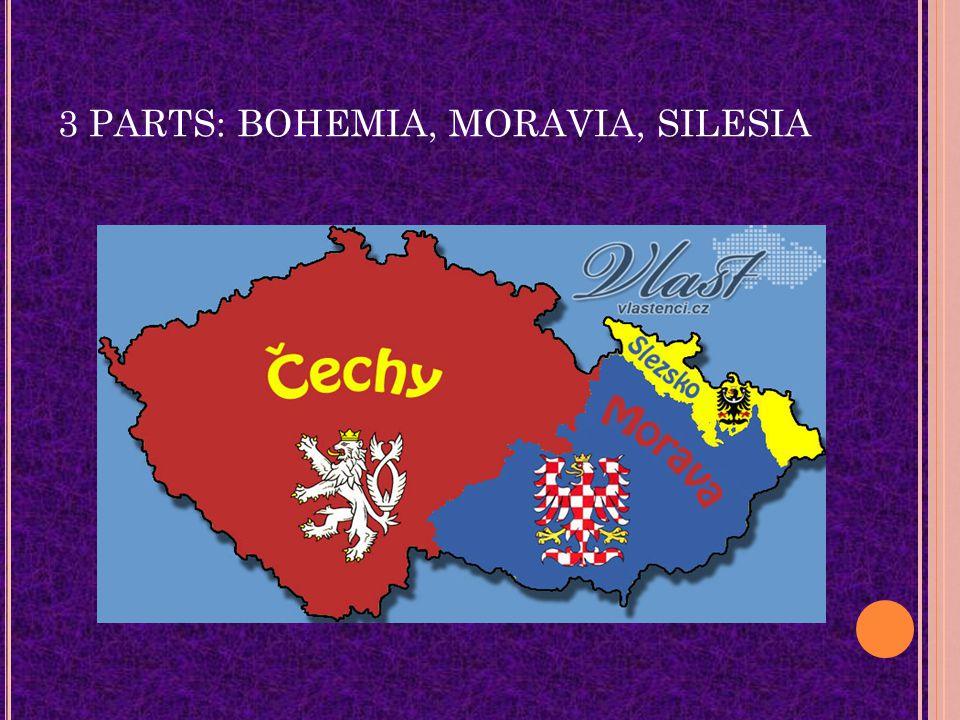 3 PARTS: BOHEMIA, MORAVIA, SILESIA