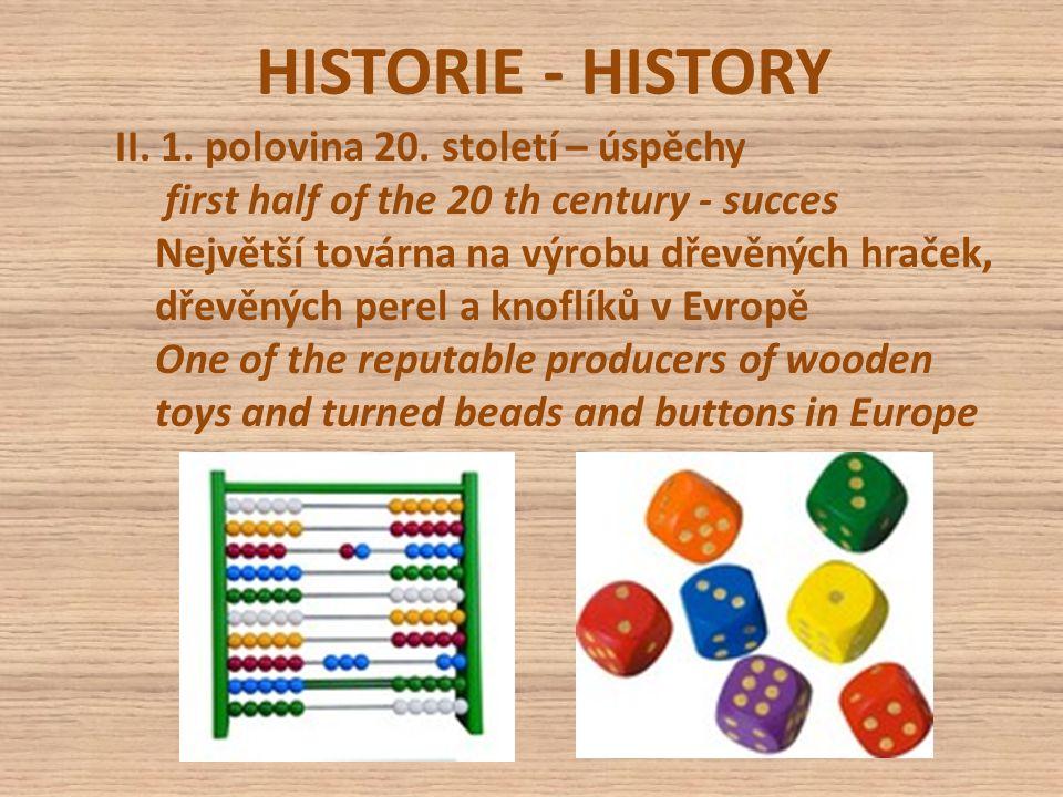 HISTORIE - HISTORY II. 1. polovina 20.