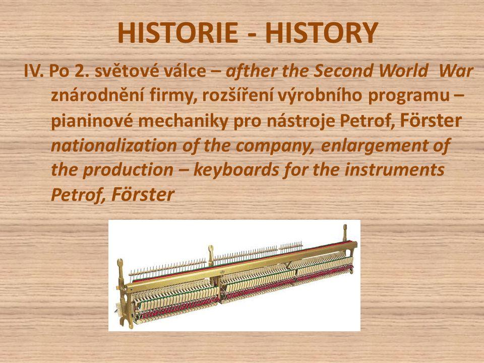 HISTORIE - HISTORY V.R.