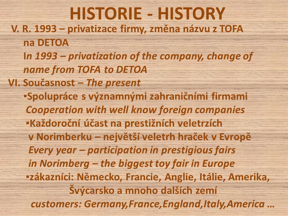 HISTORIE - HISTORY V. R.