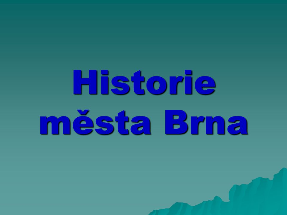  In around 1000 a settlement was established on a ford across the River Svratka, now known as Staré Brno (Old Brno), and it was this that gave the city its name.
