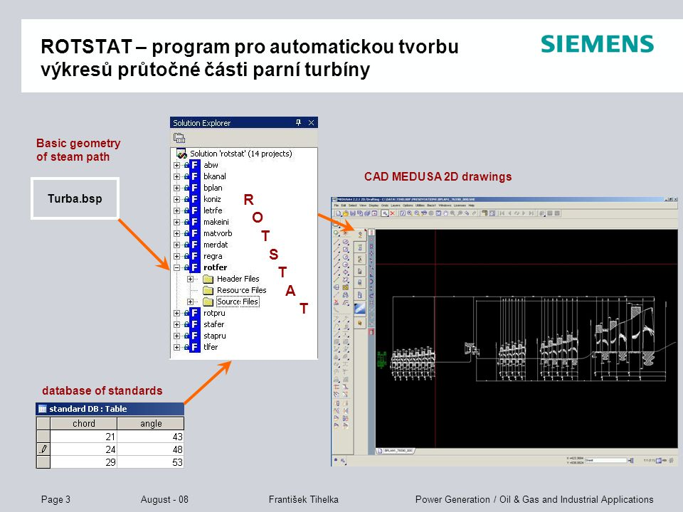 Page 4 August - 08 Power Generation / Oil & Gas and Industrial ApplicationsFrantišek Tihelka MEDUSA4 – stručné představení CAD systému