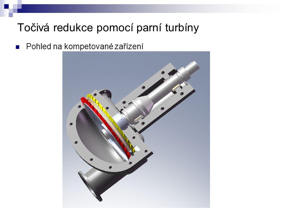 Točivá redukce pomocí parní turbíny Pohled na kompetované zařízení