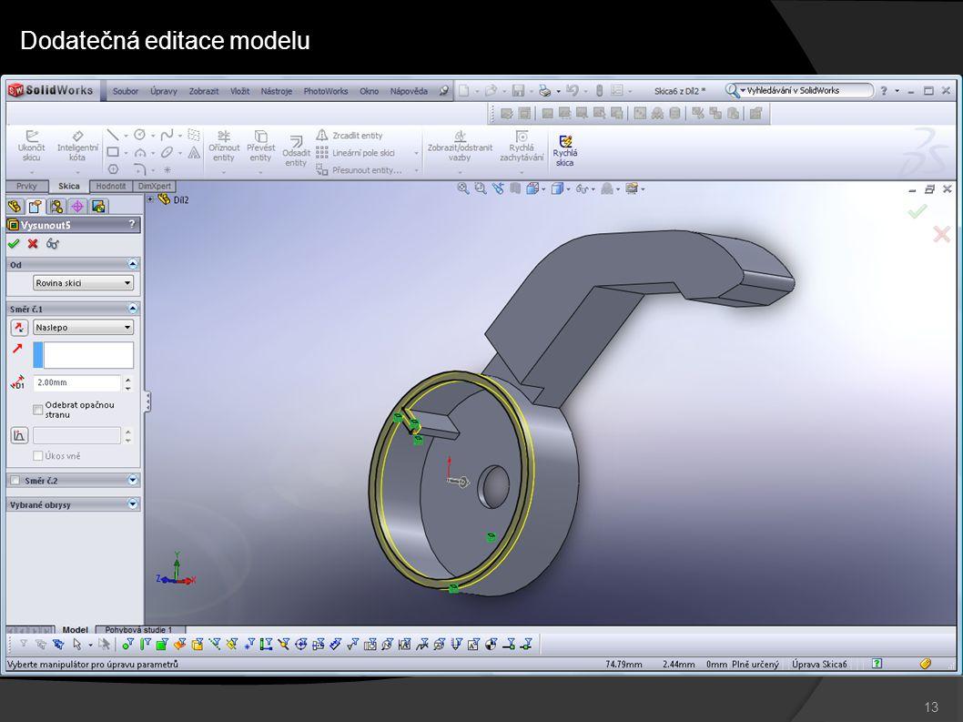 13 Dodatečná editace modelu